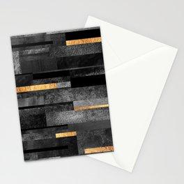 Urban Black & Gold Stationery Cards