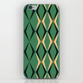 Art Deco Green & Gold iPhone Skin