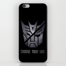 Choose your side iPhone Skin