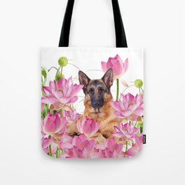 German Sheep Dog Lotos Field Tote Bag