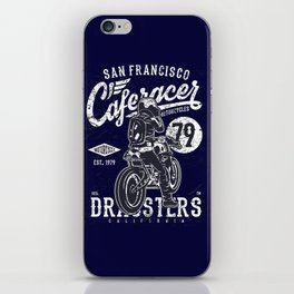 Caferacer Vintage Motorcycle Typography iPhone Skin