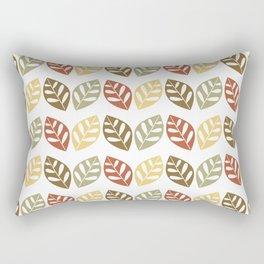Retro Leaves Pattern Rectangular Pillow