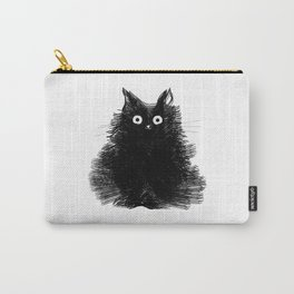 Duster - Black Cat Drawing Carry-All Pouch