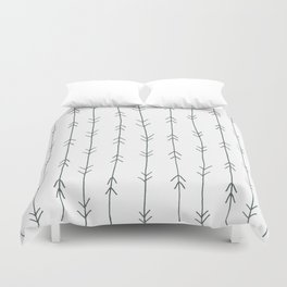 Grey, Steel: Arrows Pattern Duvet Cover