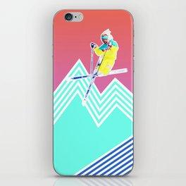 Dude skis like it's 1989 iPhone Skin