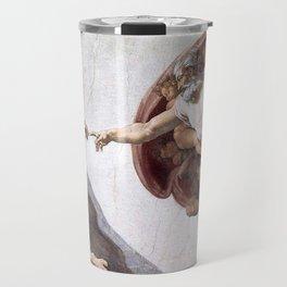 The Creation Of Adam Travel Mug