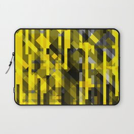 abstract composition in yellow and grays Laptop Sleeve