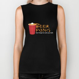 Beer Pong T-Shirt Funny Playing Beer Pong Gifts Shirts Biker Tank