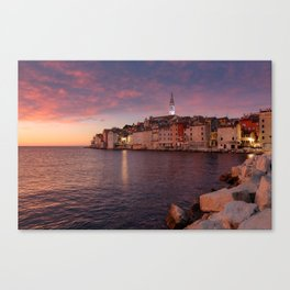 Rovinj at sunset, Croatia Canvas Print