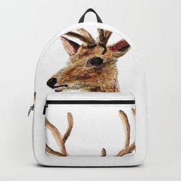 deer watercolor painting Backpack