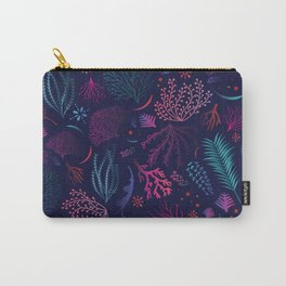 Vibrant Coral Carry-All Pouch