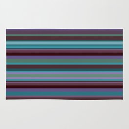 Retro Stripe in Blueberries and Orchids Rug