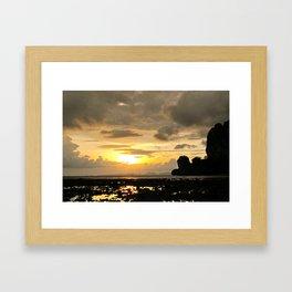 Thailand - Low tide at Sunset Framed Art Print