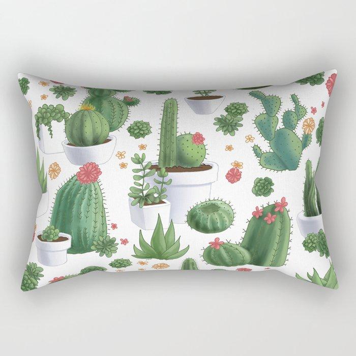 Succulent Cacti Rectangular Pillow