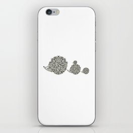 Hedgehogs family iPhone Skin