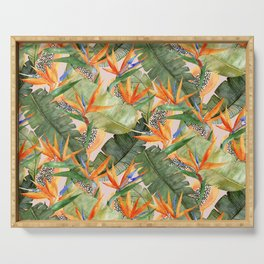 Birds of Paradise Serving Tray
