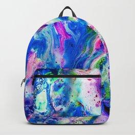 Bathbomb, fluid art, psychedelic art, trippy, psytrance, lsd, acid Backpack