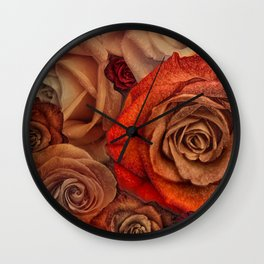"""""""Bouquet of fantasy roses (Fairy tale)"""" Wall Clock"""