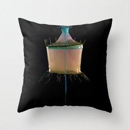 Creamy Collision Throw Pillow