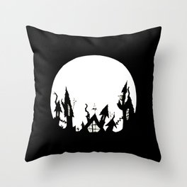 White Moon Throw Pillow