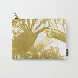 Toucans and Bromeliads - Spicy Mustard Carry-All Pouch