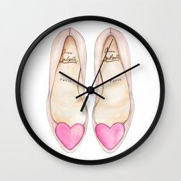PINK HEART PUMPS Wall Clock
