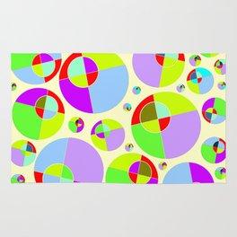 Bubble yellow & purple 10 Rug