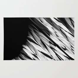 Abstract Pattern B&W1 Rug