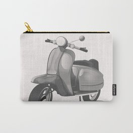 Vintage Scooter black and white Carry-All Pouch