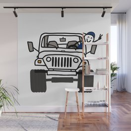 Jeep Wave White - Boy Wall Mural