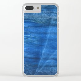 Lapis lazuli abstract watercolor Clear iPhone Case