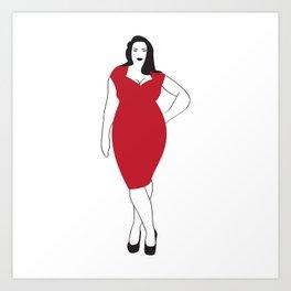 Curvy Woman Art Print