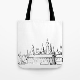fabulous city . art . black and white Tote Bag
