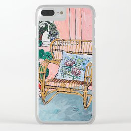 Cane Chair After David Hockney Clear iPhone Case