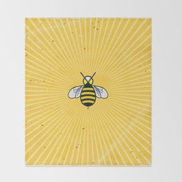 Don t worry – Bee happy – A Hell Songbook Edition Throw Blanket