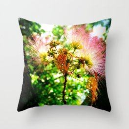 Mimosa Flower Throw Pillow
