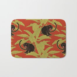 Black Panthers on  Red. Bath Mat
