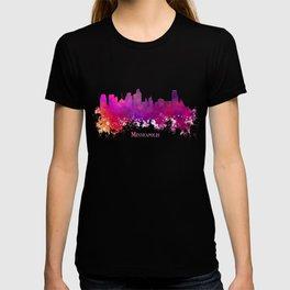 Minneapolis skyline purple T-shirt