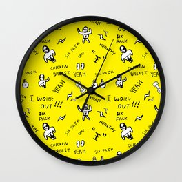 Patterned gym leggings and more, work out pattern Wall Clock