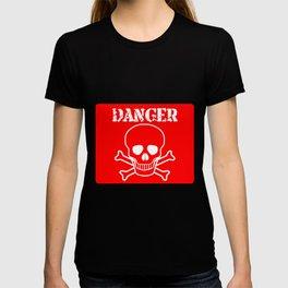 Red Danger Sign T-shirt