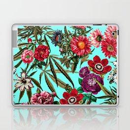 Marijuana and Floral Pattern II Laptop & iPad Skin