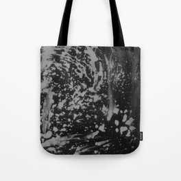 Abstract black gray watercolor splatters brushstrokes pattern Tote Bag