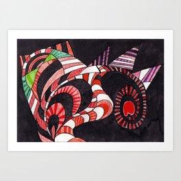 Cat Poseidonius Art Print