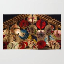 Japanese umbrellas Rug