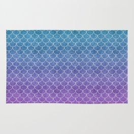 Mermaid Scales in Cotton Candy Rug