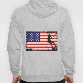 Usa American Flag Rock Climbing - Mountain Climbing Hoody