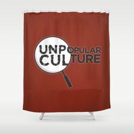 """Looking for Answers"" Unpopular Culture Shower Curtain"