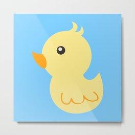 Yellow rubber ducks illustration Metal Print