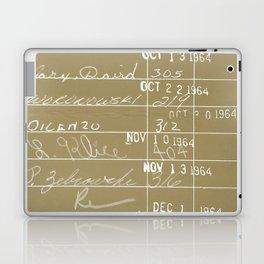 Library Card 23322 Negative Brown Laptop & iPad Skin