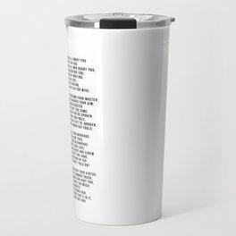 IF #minimalism Travel Mug